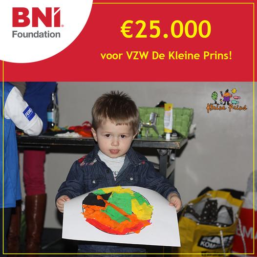 Donatie 25.000 EUR aan vzw de kleine prins